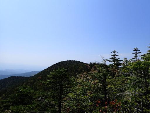 恵那山三角点峰方面