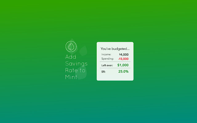 Add Savings Rate to Mint