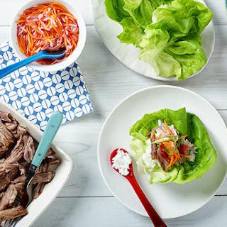 Bo Ssäm Grilled Pork and Pickled Slaw in Lettuce Cups