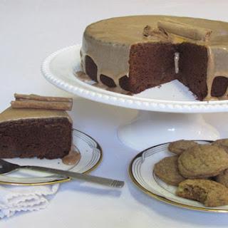 Cinnamon Chocolate Cake with Cinnamon Glaze.