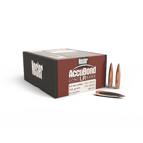 Nosler AccuBond LR 6.5mm/ .264 142gr 100st