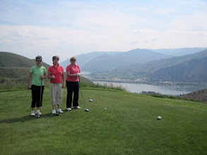 Photo: Vicky, Janet, Linda at Desert Canyon. Columbia River in the background.
