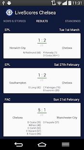 LiveScores Chelsea - náhled