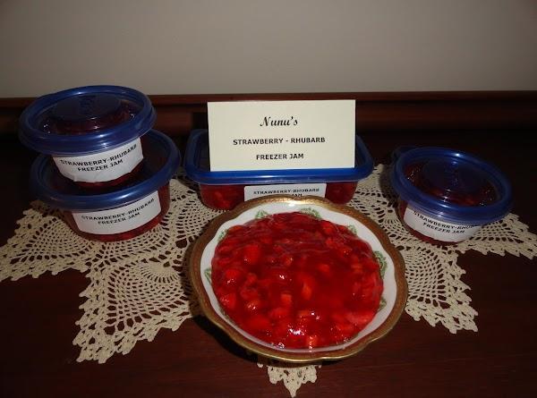 Nunu's Strawberry-rhubarb Freezer Jam Recipe