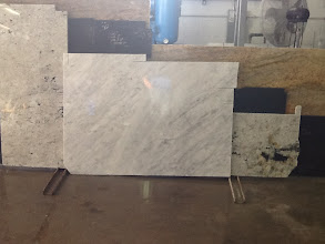 Photo: White Carrera Marble 110x45