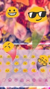 Dazzling Flowers keyboard Theme - náhled