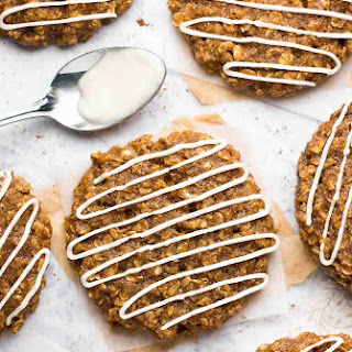 Healthy Iced Gingerbread Oatmeal Cookies.