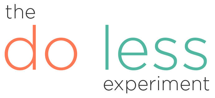 The Do Less Experiment Logo