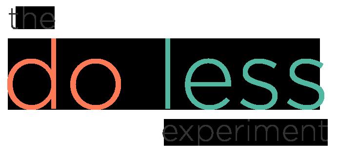 The Do Less Experiment Logo
