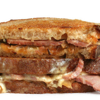 Black Forest Ham and Caramelized Onion Grilled Cheese