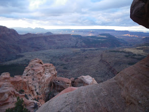 Photo: View from the summit block of Moqui Peak