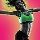 Aerobics workout weight loss icon