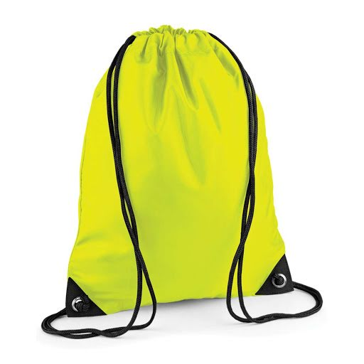 Drawstring Rucksacks - High Vis Yellow