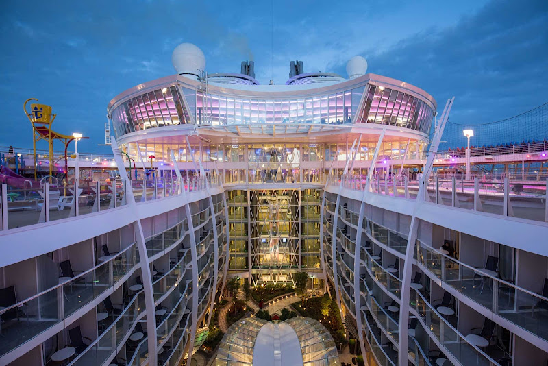 A look at Central Park on Harmony of the Seas, the largest cruise ship in the world.