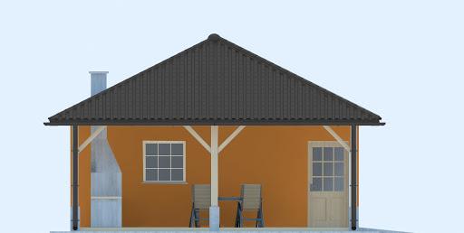 G246 - Budynek rekreacji indywidualnej - Elewacja przednia