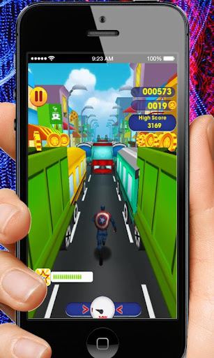Captain Hero Subway Run Rush 2.0 screenshots 4