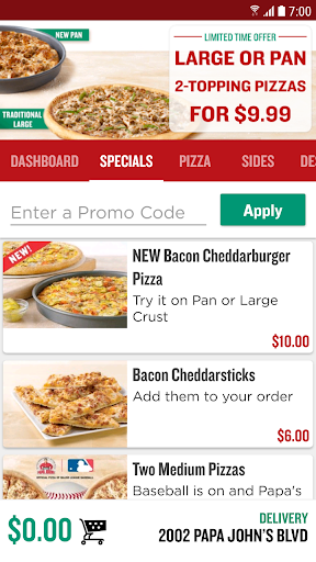 Papa John's Pizza Screenshot