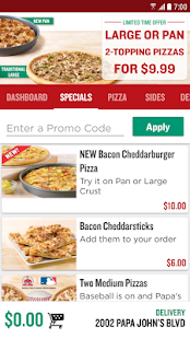 Papa John's Pizza Screenshots
