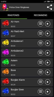 Police Siren Ringtones - screenshot