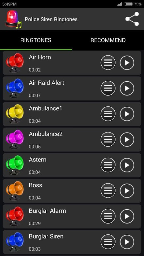 Police Siren Ringtones- screenshot