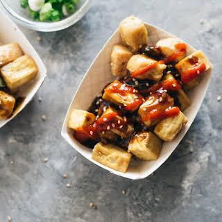 Crispy Tofu with Garlic Sauce (without Deep-Frying).