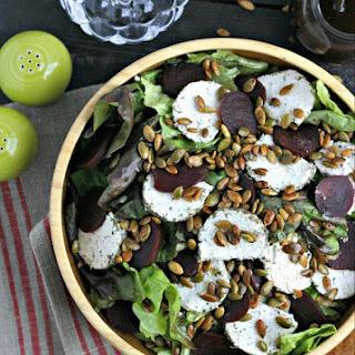 Thanksgiving Salad with Thyme Balsamic Vinaigrette.