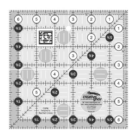 Linjal Creative Grids 6½'' x 6½'' (12008)