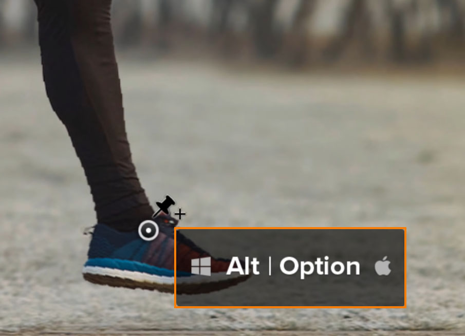 Hold Alt (Windows) or Options (macOS) while clicking on a point