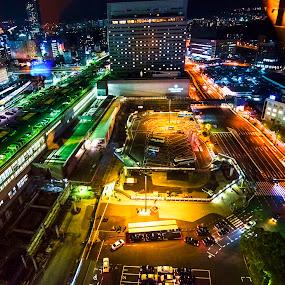 Hiroshima at night by Pravine Chester - City,  Street & Park  Night ( night photography, street, cityscape, hiroshima, nightscape, city,  )