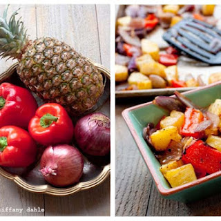 Roasted Peppers & Pineapple.