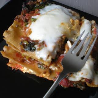 Kale & Caramelized Onion 2-Cheese Vegan Lasagna.