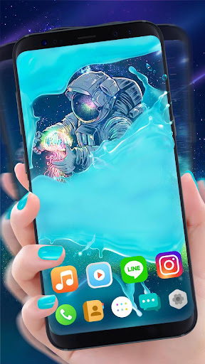 Screenshot for Gravity Water Astronaut Themes HD Wallpapers icons in United States Play Store