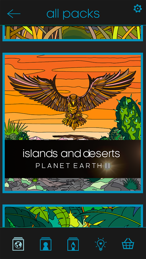 BBC Earth Colouring- screenshot