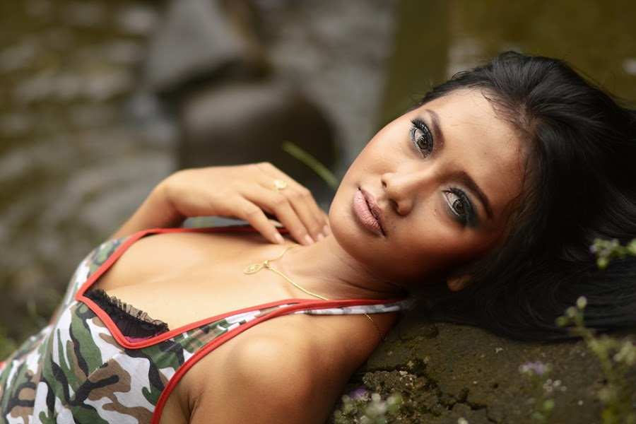 River Girl by Kresnata Adijaya - People Portraits of Women