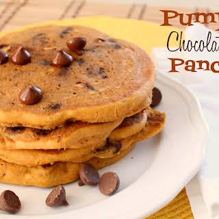 Pumpkin Chocolate Chip Pancakes.