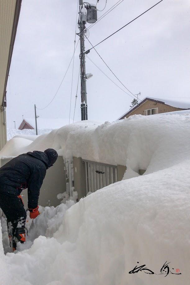 雪に埋もれながら。。。