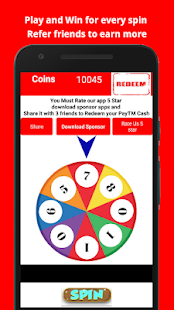 App Earn free Paytm cash -Spin and Win Money APK for Windows Phone