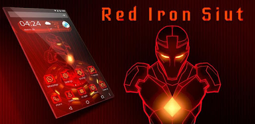 Red Iron Hero 3D Theme app (apk) free download for Android/PC/Windows screenshot