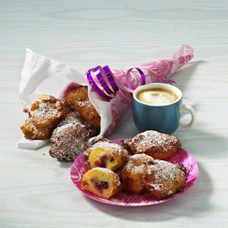 Cheese Fritters with Strawberry Filling