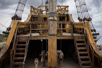 Photo: On the main deck of the Nao Victoria.  The original was the first ship to circumnavigate the globe, in 1519-22.