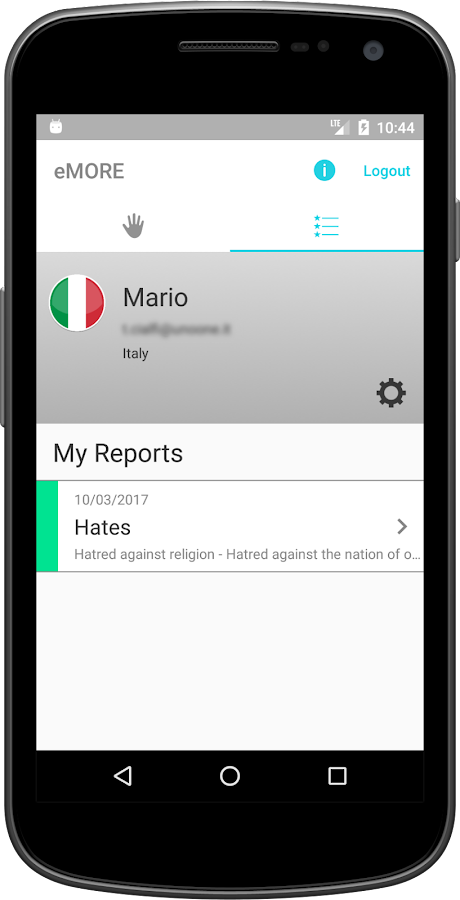 eMORE Monitoring and Reporting- screenshot