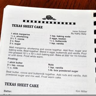 Grandma's Texas Sheet Cake