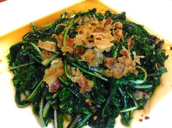 Who Knew Stir-fried Dandelion Greens & Pancetta Recipe