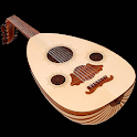 Oud oriental musical instrumen icon