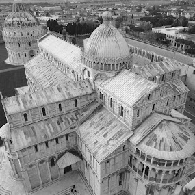 Piazza del Duomo viewed from the top of the Pisa´s Leaning Tower by Bruno Machado - Buildings & Architecture Places of Worship ( pwcbuilding )