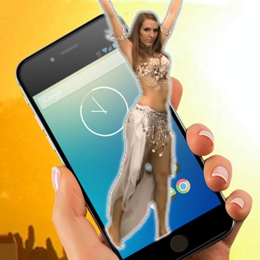 Belly dance on screen (app)