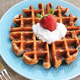 Honey Vanilla Strawberry Waffles