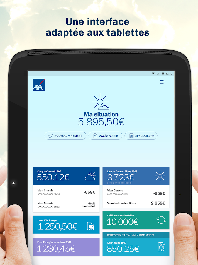 AXA Banque France- screenshot