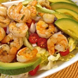 Grilled Shrimp and Avocado Salad with Lemon Mustard Vinaigrette