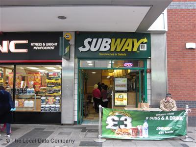 Subway On High Street Take Away Food Shops In Town Centre